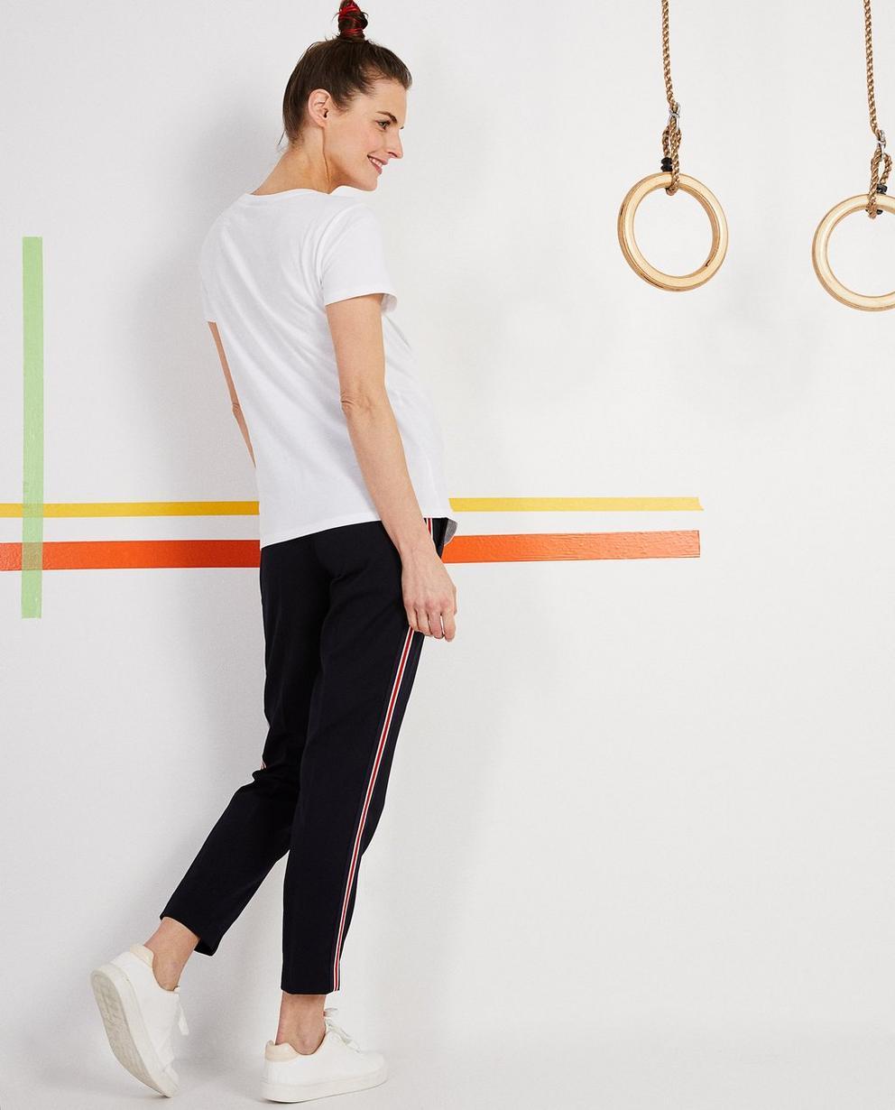 Hosen - Navy - Hose mit sportlichen Streifen